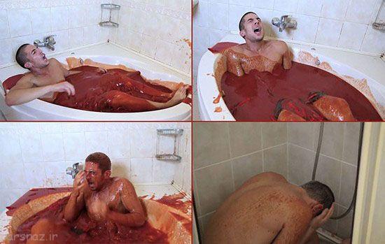 اقدام عجیب این پسر در وان سس فلفل حمام کرد