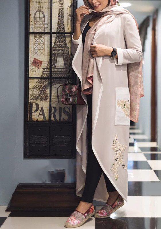 مدل جدید و زیبای مانتو جلو باز از برند Luxury Design