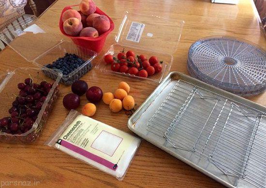 آموزش خشک کردن میوه در آفتاب