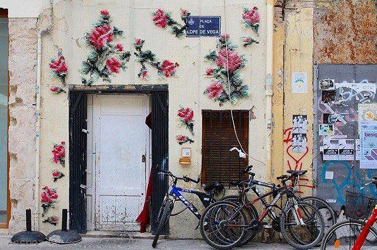 هنر خیابانی به سبک گلدوزی در اسپانیا