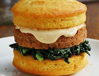 برگر گیاهی خوراکی سالم و خوشمزه