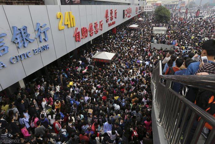 تصاویری متفاوت از شلوغی های کشور چین