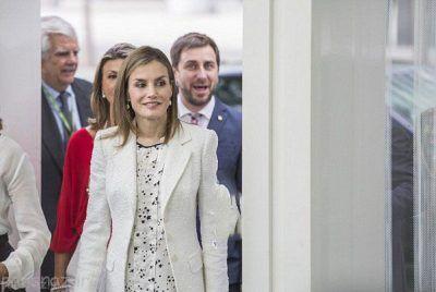 لباس زیبای ملکه اسپانیا در بارسلونا +عکس