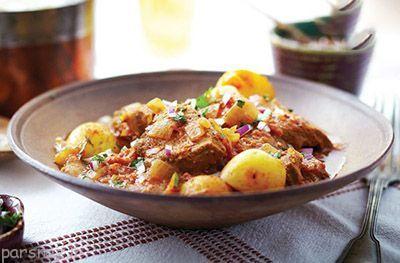 خوراک گوشت گوساله را با سیب زمینی امتحان کنید