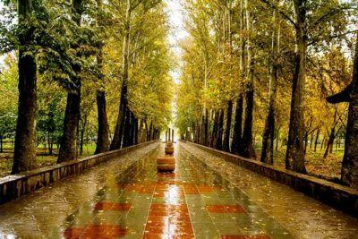 عکس های طبیعت پاییزی از اولین باران در شهر کرج
