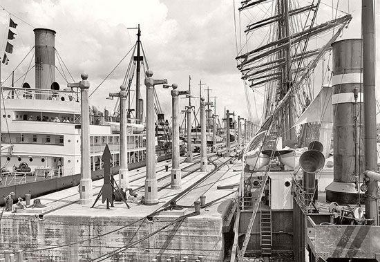عکسهای تاریخی جالب از زمان ساخت آبراه های جهان