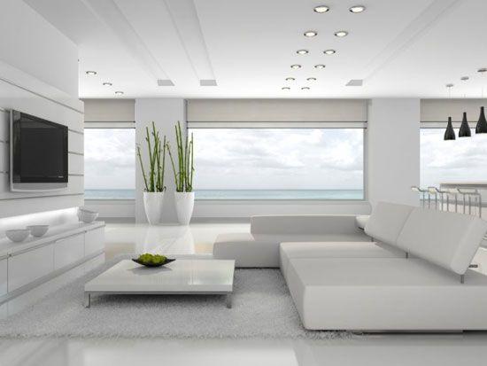 طراحی دکوراسیون سفید زیبایی بخش هر خانه
