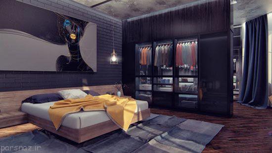 جدیدترین مدل اتاق خواب با رنگ مشکی
