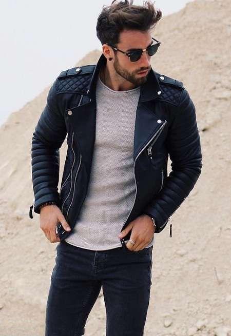مدل کاپشن اسپرت چرمی مردانه 2017