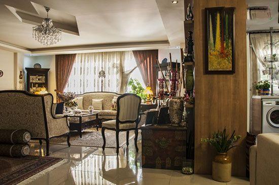 دکور خانه با وسایل قدیمی و عتیقه زیبا