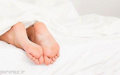 بیرون گذاشتن پاها از پتو هنگام خوابیدن