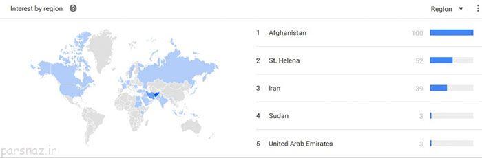 رتبه بالای ایران در سرچ کلمات مستهجن گوگل