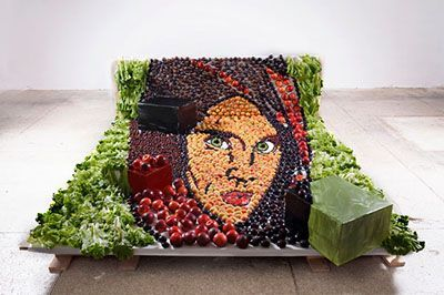 عکس های دیدنی از خلق تصاویر جالب با مواد خوراکی