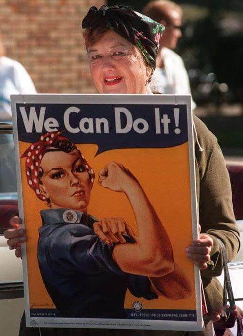 پوستر تاریخی این دختر مربوط به جنگ جهانی دوم