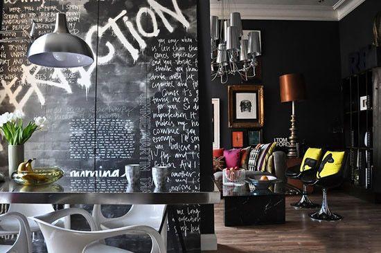 ترکیب رنگ های مختلف با سیاه در دکوراسیون