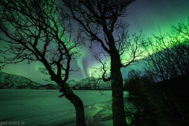 شفق های قطبی بی نظیر در نروژ +عکس