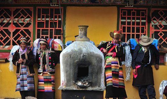 فستیوال برای برداشت محصول در تبت