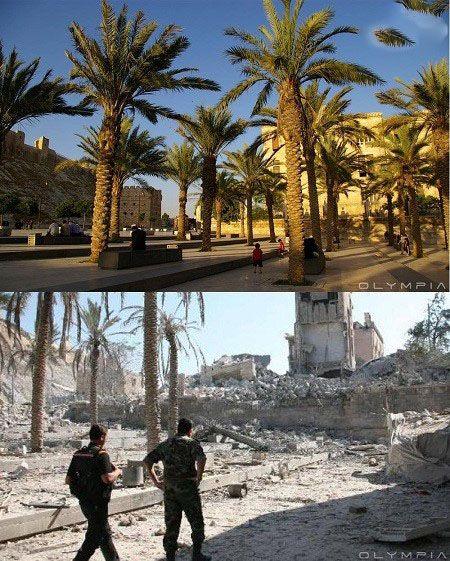 تصاویر تکان دهنده از سوریه قبل و بعد از ویرانی