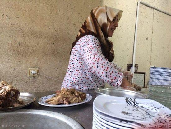 شغل جالب و سخت مادر مشهدی را ببینید
