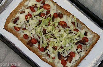 پیتزای گوشت و کاهو اختراع آشپزی