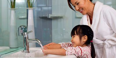 بعد از دستشویی حتما دست ها را بشویید