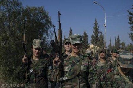 تصاویر دختران کماندو سوری محافظ بشار اسد