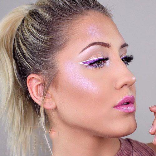مدل آرایش لایت و ملایم صورت از Enna Pustovit