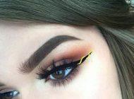 مدل آرایش چشم روبانی جدید و زیبا مدل خط چشم