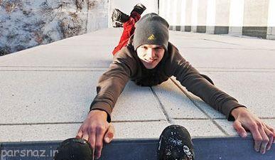 کلیپ کار احمقانه و خطرناک این پسر در ارتفاعات