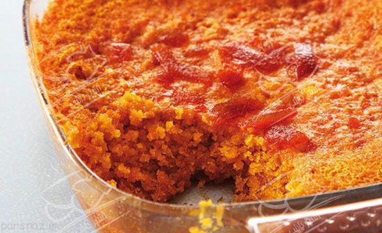 کیک پودینگ مارمالاد مناسب برای دورهمی ها