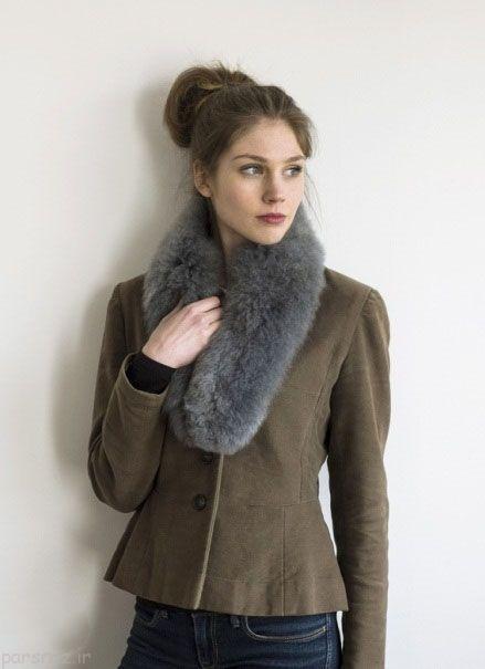گالری جدیدترین مدل های شال گردن بافت زنانه