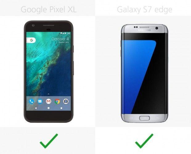 مقایسه دو گوشی Google Pixel XL و Galaxy S7 edge