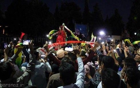 عکس رقص دختر شیرازی در ملاء عام بدون روسری