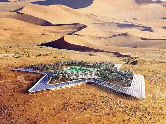مکان سرسبز و تفریحی در دل بیابان امارات