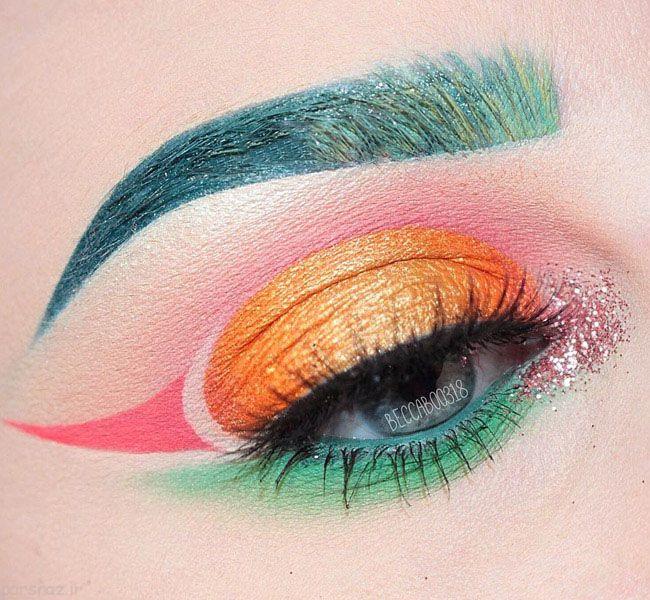 با مدل آرایش چشم های رنگی زیبا شوید