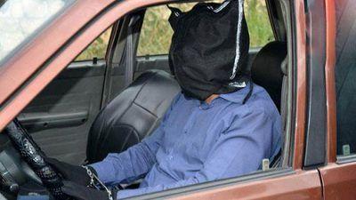 رانندگی این جوان با چشم بسته در مازندران
