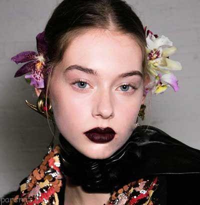 مدل آرایش های لب زیبا مخصوص فصل پاییز