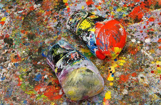 ترکیب هنر نقاشی با بوکس در ایتالیا