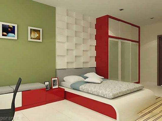 رنگ قرمز برای اتاق خواب مکان عشق