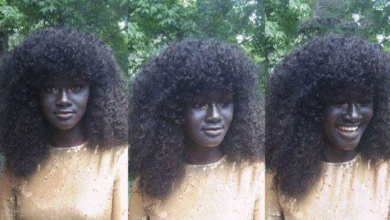 دختر الهه ی سیاه با پوست جذاب را ببینید