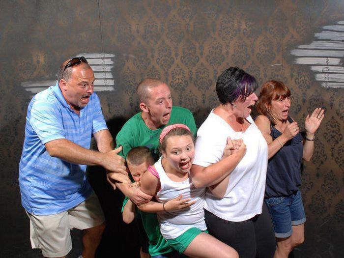 عکس های قیافه خنده دار افراد وقتی می ترسند