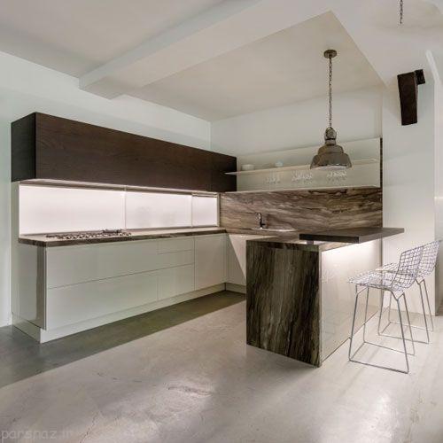 طرح های کابینت برای آشپزخانه های کم جا