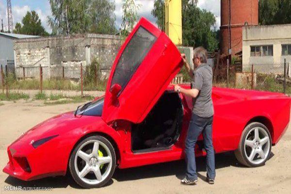 مرد اوکراینی لامبورگینی دست ساز ساخت