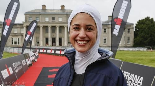 دختر محجبه ایرانی در رقابت سه گانه امریکا