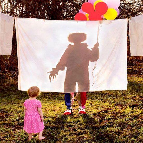 خلق تصاویر ترسناک و دلهره آور توسط پدر و فرزندان