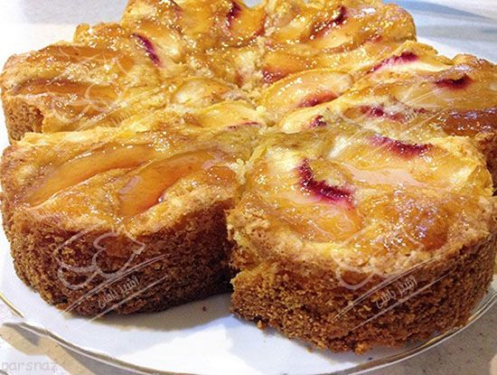 طرز تهیه کیک هلو پیشنهاد اول عصرانه