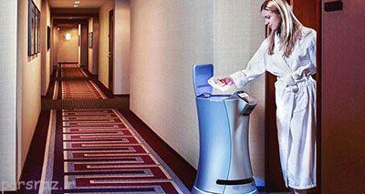 خدمات آینده هتل ها در دست ربات می باشد