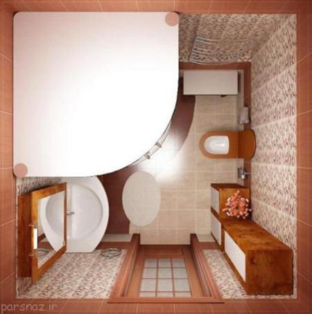 ایده طراحی حمام و سرویس بهداشتی کوچک