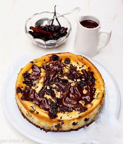چیز کیک آلبالو و شکلات سلطان خوراکی ها