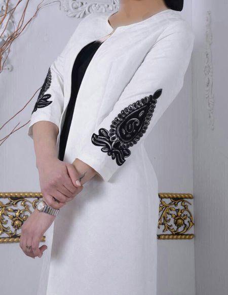 انواع مانتوهای زیبا به رنگ مشکی و سفید